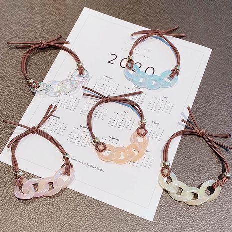 Sirena coreana princesa cabeza cuerda corbata cabello transparente cadena cabello anillo accesorios para el cabello banda de goma simple tocado de bola NHNA233019's discount tags