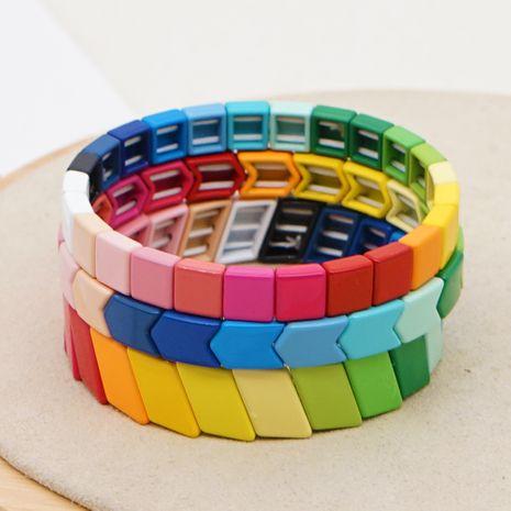 new  trendy fashion rainbow models enamel alloy couple bracelet female jewelry nihaojewelry wholesale  NHGW233040's discount tags