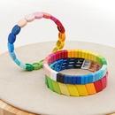new  trendy fashion rainbow models enamel alloy couple bracelet female jewelry nihaojewelry wholesale  NHGW233040