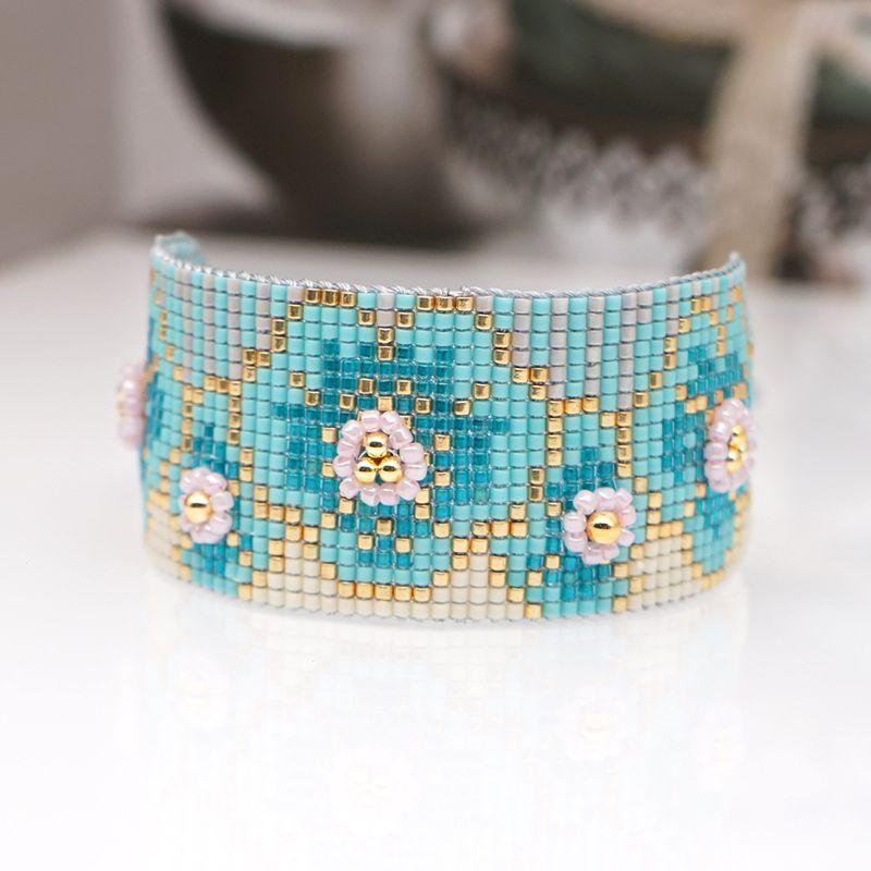 fashion simple female bracelet Miyuki antique rice beads woven plum pattern ethnic style handmade jewelry nihaojewelry wholesale  NHGW233052