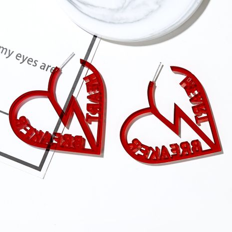 Korean Acrylic Earrings Herat Braeaker Heartbreaker Earrings Fashion women's Earrings NHXI233082's discount tags