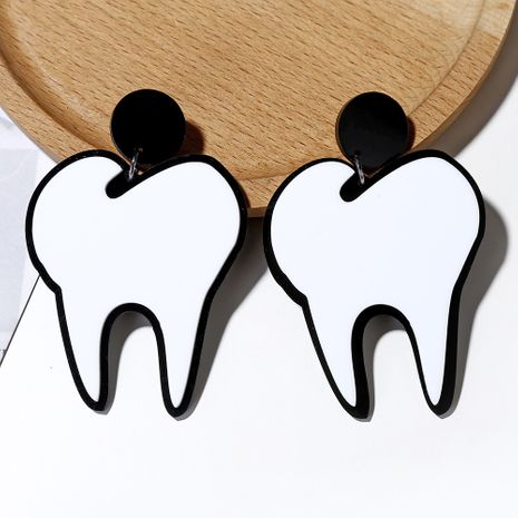 hot selling exaggerated earrings funny fashion acrylic teeth earrings for women NHXI233083's discount tags