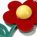 new Korea flower earrings lovely green leaf flower contrast color acrylic earrings long earrings women NHXI233092