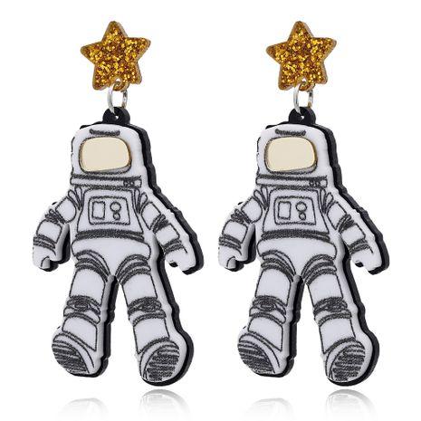 new fun astronaut fashion  creative earrings stars astronaut earrings NHXI233096's discount tags