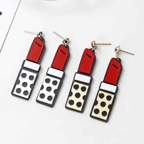 Pendientes largos creativos calientes pendientes de lápiz labial de dibujos animados de moda para mujer al por mayor NHXI233097's discount tags