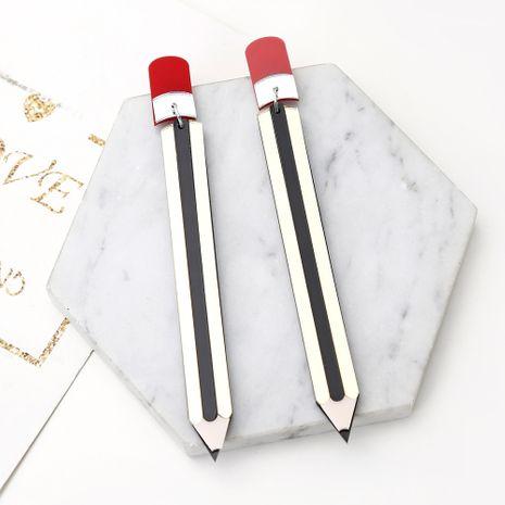 moda diversión pendientes exagerados creativos divertidos lápiz papelería acrílico borla pendientes al por mayor NHXI233098's discount tags