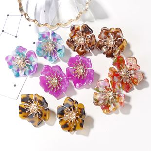 sweet flower stud earrings women acetate small fresh petal earrings flower earrings  NHXI233099's discount tags