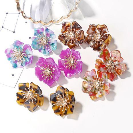 pendientes de flores dulces pendientes de acetato de mujer pendientes de pétalos frescos pequeños pendientes de flores NHXI233099's discount tags