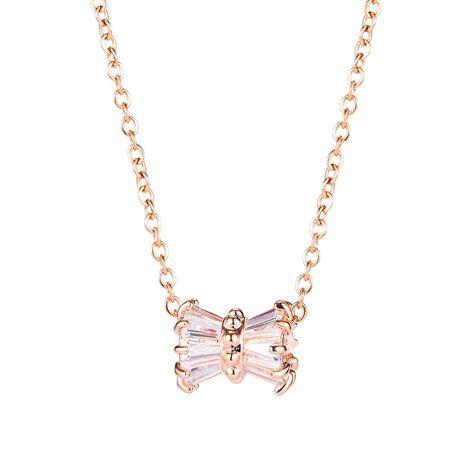 Korean new fashion delicate diamond niche design sense clavicle chain trendy necklace nihaojewelry wholesale  NHOP233110's discount tags