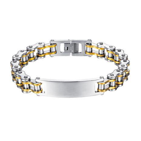 Moda nueva pulsera de acero de titanio estilo punk personalidad dominante pulsera locomotora nihaojewelry al por mayor NHOP233126's discount tags