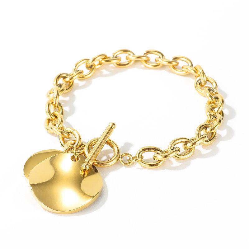 hot sale fashion new simple  stainless steel peach heart jewelry  OT buckle love ladies titanium steel bracelet  nihaojewelry wholesale  NHOP233130