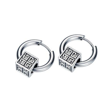 fashion new trendy  titanium steel earrings wholesale creative  simple square earrings nihaojewelry wholesale   NHOP233133's discount tags