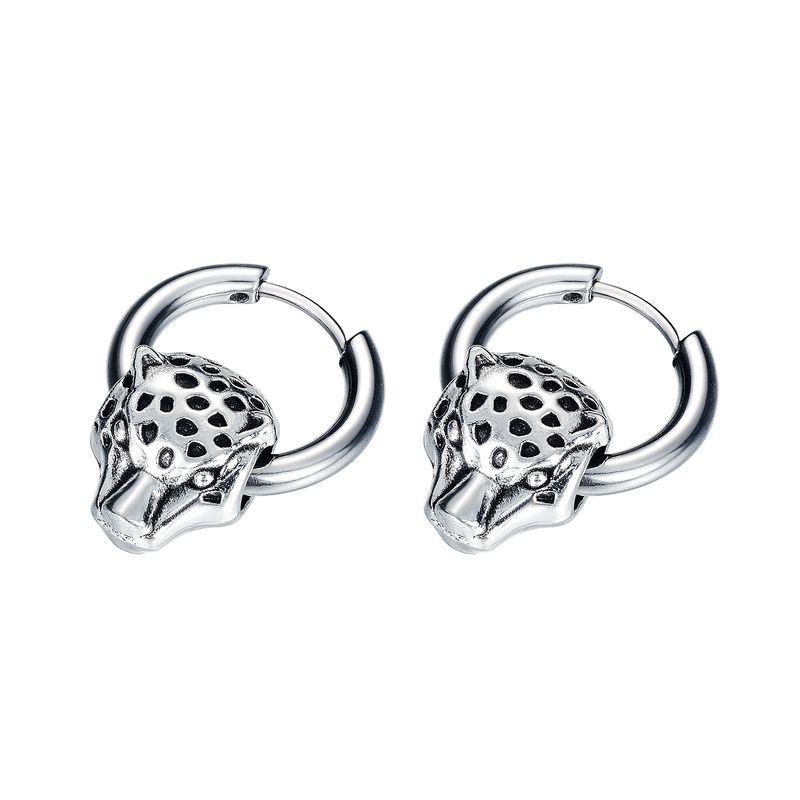 new Korean  fashion earrings trendy male personality jewelry titanium steel men's simple earrings  nihaojewelry wholesale   NHOP233146