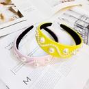 Korean pearl headband women retro luxury leather headband highend simple widebrimmed hairpin pearl headband NHUX233153