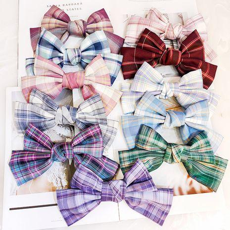 Tejido a cuadros coreano de alta gama horquilla salvaje lindo arco horquilla accesorios uniformes mujeres NHUX233155's discount tags