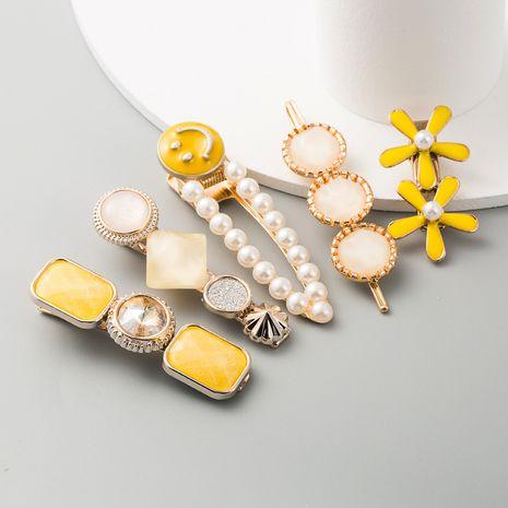 hair clip headdress pearl hair clip stream seaside clip Korean hairpin head hair accessories top clip NHLN233170's discount tags