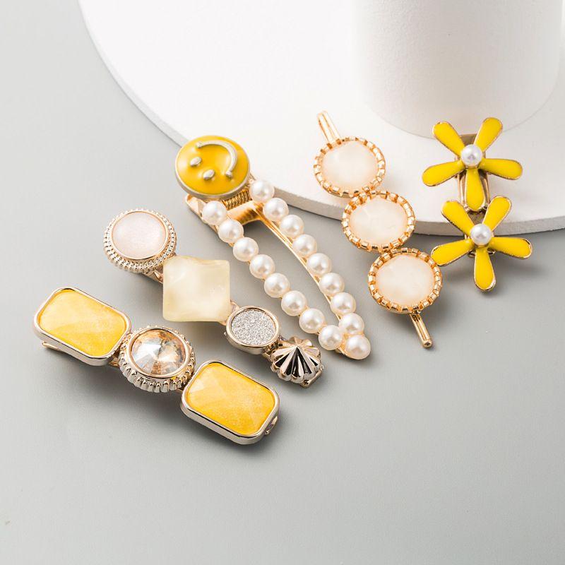 hair clip headdress pearl hair clip stream seaside clip Korean hairpin head hair accessories top clip NHLN233170