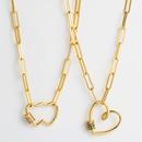 hiphop punk amour coeur pendentif collier personnalis chane Bagu microset couleur collier nihaojewelry gros NHLN233173