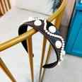 NHUX796712-Black-leather-pearl-flat-headband
