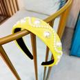 NHUX796715-Lemon-Yellow-Leather-Pearl-Flat-Headband