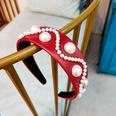 NHUX796716-Wine-Red-Leather-Pearl-Flat-Headband