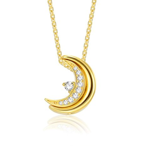 fashion new 925 sterling silver moon  pendant necklace   wholesale  NHKL233183's discount tags