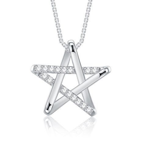 New Fashion 925 Sterling Silver Star Pendant Necklace wholesale NHKL233184's discount tags