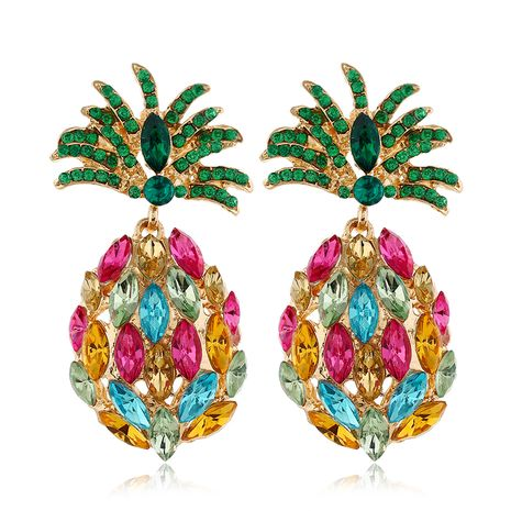 fashion metal wild and gorgeous pineapple temperament exaggerated earrings wholesale nihaojewelry NHSC233360's discount tags
