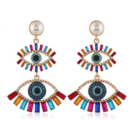 mode métal brillant yeux du diable tempérament boucles d'oreilles exagérées en gros nihaojewelry NHSC233359's discount tags