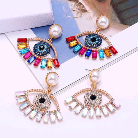 nouveau mode métal brillant boucles d'oreilles oeil de diable en gros nihaojewelry NHSC233357's discount tags