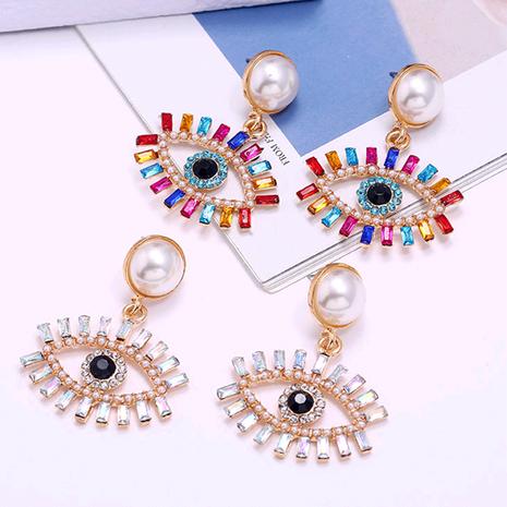 mode métal brillant boucles d'oreilles tempérament oeil du diable en gros nihaojewelry NHSC233361's discount tags