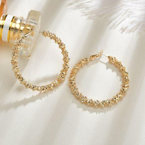 boucles d'oreilles rétro en métal doré minimaliste plaqué or rétro en gros NHBQ239985's discount tags