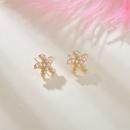 Korea small pearl simple and versatile starfish shell earrings wholesale nihaojewelry NHBQ239988