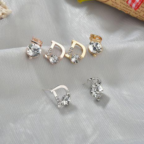 hot sale silver needle simple asymmetric earrings small commuter earrings wholesale nihaojewelry NHBQ239991's discount tags