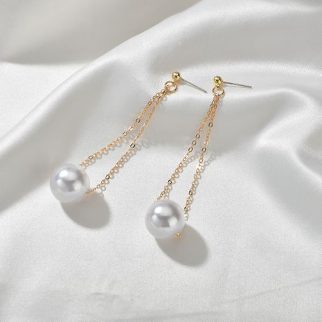 Simple  new long pearl design earrings wholesale NHBQ239994's discount tags