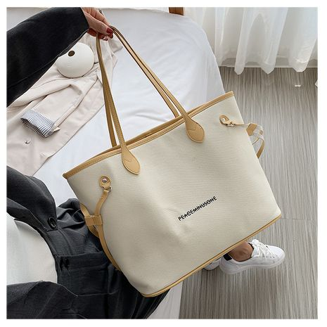 new trendy canvas messenger bag large capacity handbag tote bag wholesale NHTC240124's discount tags