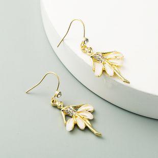 Korean fashion  ballet girl style  alloy diamond  earrings wholesale  NHLN240218's discount tags