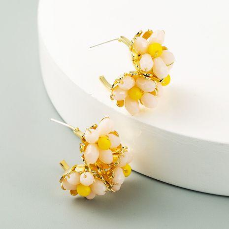 fashion new  flower C-shaped Korean cute simple earrings  wholesale  NHLN240224's discount tags