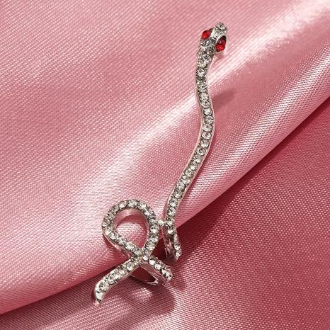 retro  full diamond  long snake-shaped earrings wholesale  NHNZ240232's discount tags