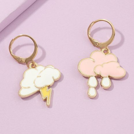 cute new fashion  pink cloud  sweet mood earrings  wholesale  NHNZ240233's discount tags