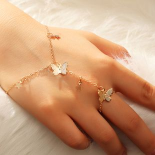 simple fashion butterfly five-pointed star bracelet wholesale nihaojewelry NHNZ240236's discount tags