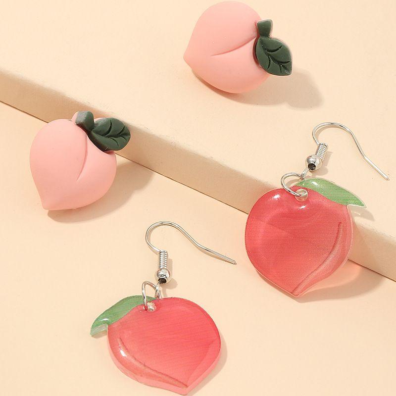 fashion new  sweet peach  super fairy cute fruit earrings wholesale   NHNZ240242
