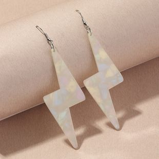 new fashion  transparent fluorescent color lightning  fun earrings  wholesale  NHNZ240248's discount tags