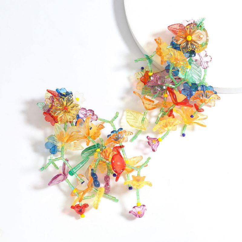 Creative fashion multi-layer resin flower  trend  Bohemian ethnic earrings  wholesale   NHJE240263
