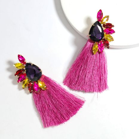 new fashion  exaggerated  alloy  diamond long tassel  bohemian earrings NHJE240266's discount tags