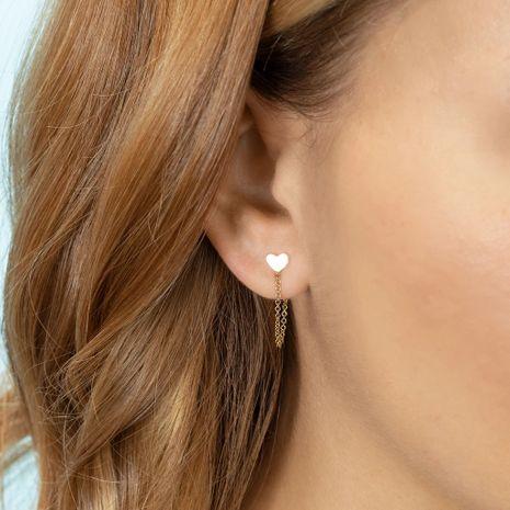 new  love moon long chain  fashion tassel double hoop  single earrings NHLL240001's discount tags