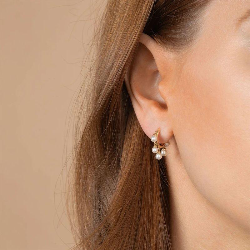 new  fashion creative multi-layer   elegant pearl micro-inlaid zircon personality  earrings wholesale  NHLL240000
