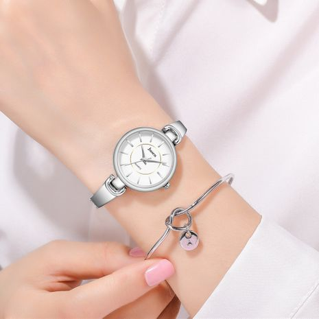simple thin steel band bracelet watch strip quartz decorative hand watch wholesale nihaojewerly NHSS242859's discount tags
