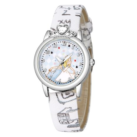 Cute princess pattern digital watch children printing PU belt strap watch wholesale nihaojewerly NHSS242860's discount tags