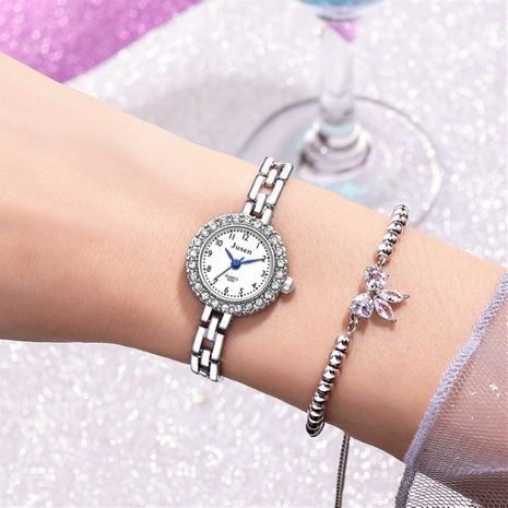 Fashion starry thin strap bracelet alloy diamond hand watch wholesale nihaojewerly NHSS242864's discount tags